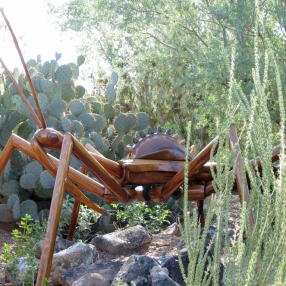 """The sign for this one just said """"assassin bug,"""" but it's OBVIOUSLY a wheel bug."""